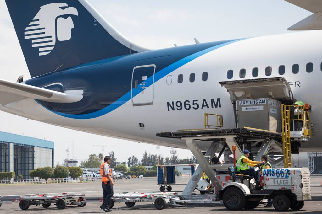 Aeroméxico ahora hace transporte de carga