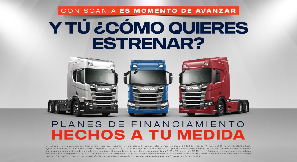 Scania lanza promociones para vender camiones.