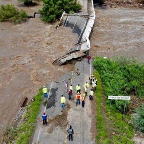 SCT rehabilita caminos por lluvias