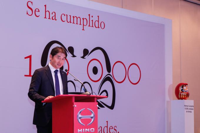 HINO celebra 10 000 unidades vendidas