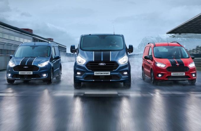 Las van más deportivas son Ford Transit