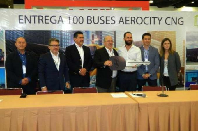 Traxión adquiere 100 autobuses de GNV de Neohyundai