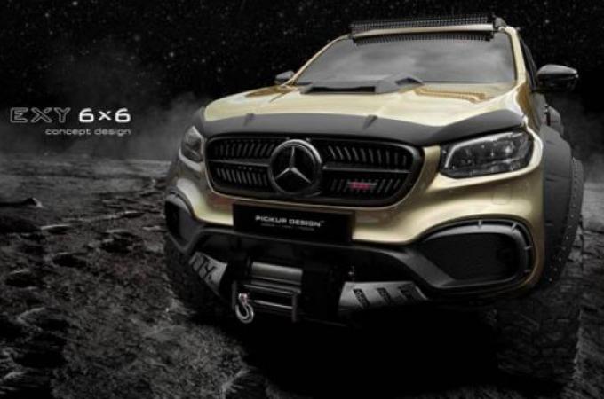 La pick-up de Mercedes Benz es llevada al extremo 6X6