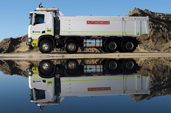 Scania pone a rodar un camión autónomo en una mina