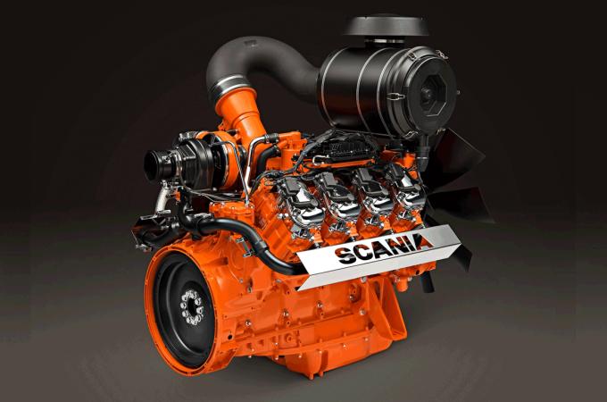Scania lanza un nuevo motor V8 que usa biogas