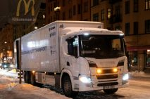 Scania pone a prueba sus híbridos con entregas silenciosas