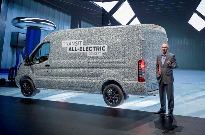 Ford presentan una Transit totalmente eléctrica